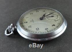 Antique OMEGA Art Deco 48mm Staybrite Pocket Watch Caliber 38.5L. T1. Ca 1935