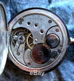 Antique OMEGA Silver 0.900 old pocket watch