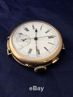Antique Old Vintage Art Deco Quarter Repeater Stopwatch Gents Watch G/f