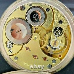 Antique Omega 15 Jewel Manual Wind Pocket Watch. 800 Silver + Micro Regulator