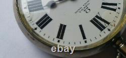Antique Omega Hand Winding Pocket Watch Enamel Dial