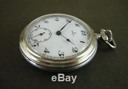 Antique Omega Silver Plated Pocket Watch 50 mm Ca 1931