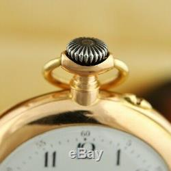Antique Original Haas Neveux & Cie Quarter Repeater 18k Solid Gold Pocket Watch
