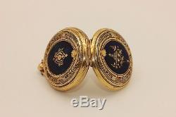Antique Original Perfect 18k Gold Enamel Diamond Decorated Pocket Watches