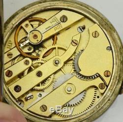 Antique Ottoman Army Pasha award LeCoultre caliber pocket watch c1890. 24h dial