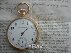 Antique Patek Philippe 18K Gold Pocket Watch with Original Certificate 1882