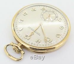 Antique Patek Philippe 18k Yellow Gold 47.5mm 18J Pocket Watch Grogan Co. Pitts