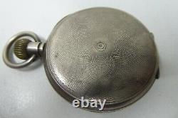 Antique Pocket Fob Watch Sterling Silver Case