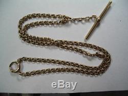 Antique Pocket Watch Chain 14k Solid Gold jwl-11