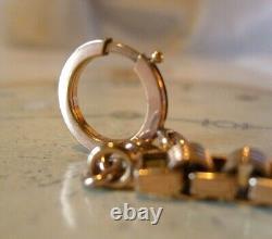 Antique Pocket Watch Chain 1890 Victorian 10ct Rose Gold Filled Albert Key T Bar