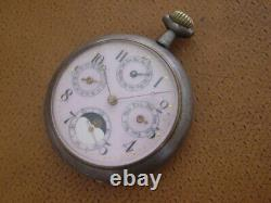 Antique Pocket Watch. Moon Phase. Triple Calendar. Parts / Repair