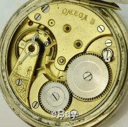 Antique Qing Dynasty Chinese Omega pocket watch c1900's. Erotic enamel dial