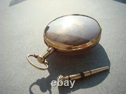 Antique Quarter Repeater Erotic Automation 18k Gold Verge Fusee Pocket Watch 18c