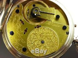 Antique RARE original Charles Frodsham English 20j pocket watch c. 1890 Serviced