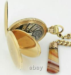 Antique ROLEX Gold Hunter Pocket Watch And Gold Fob Set