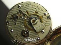 Antique Rare Illinois 17 jewels Maiden Lane Rail Road grade pocket watch. 1881