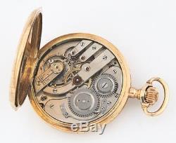 Antique Remontoir 14k Solid Gold 15-Jewel Pocket Watch Size 18 Full Hunter