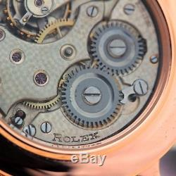 Antique Rolex Rebberg Swiss Original High Grade 15 Jewel Mov Solid 14k Gold Case