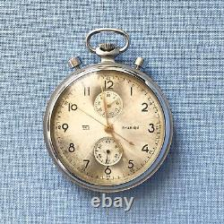 Antique Russian NAVY Stopwatch Poljot Chronograph Torpedo Timer & Pocket Watch