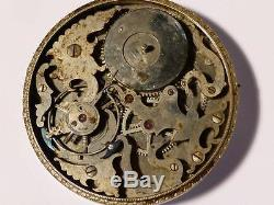 Antique SPECIAL Chinese Duplex Watch Movement Polished Steel 2 SNAKES Mythology