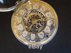 Antique Silver Dutch Verge Fusee Pocket Watch/Date & Chatelaine Amsterdam 1700