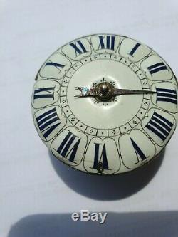 Antique Silver French Single Hand Oignon Pocket Watch circa 1680
