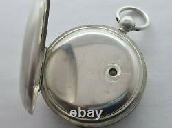 Antique Silver Full Hunter Rotherhams London English Lever Pocket Watch c. 1900