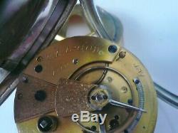 Antique Silver Fusee Pocket Watch, James Forrest of Glasgow, Hallmarked 1883