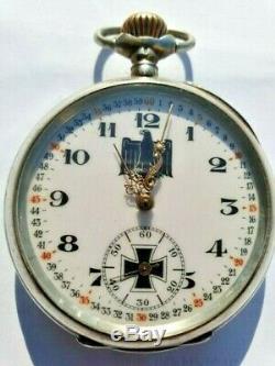 Antique Silver German WW2 Glashutte System Pocket Watch