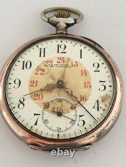 Antique Silver Omega Pocket Watch