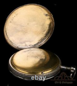 Antique Silver Quarter Repeater Pocket Watch. France, 1820