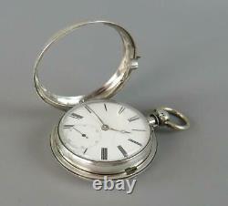 Antique Silver Scottish Fusee Pair Cased Pocket Watch Robt. Murray Lauder 1846