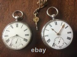 Antique Silver Victorian Fusee Pocket Watch. Plus 1