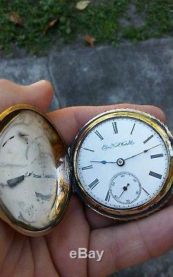 Antique Size 18 Elgin Gold Filled Hunter Pocket Watch