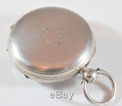 Antique Small Silver English Fusee Lever Pocket Watch Calderwood, London c. 1876
