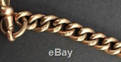 Antique Solid 9K Rose Gold Pocket Watch Chain 25.4 grams