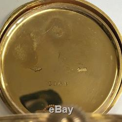Antique Solid 9ct Gold Full Hunter Pocket Watch 1926 D 50mm Working 87.4g
