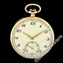 Antique Solid 9k Gold Case Very Fine 15j Cortebert Cal 620 Swiss Pocket Watch