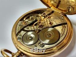Antique Solid Gold Pocket Watch, Albert Chain & Fob Excellent Condition in GWO