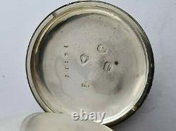 Antique Solid Silver Fusee Pocket Watch London 1850 Quality Movement Rare
