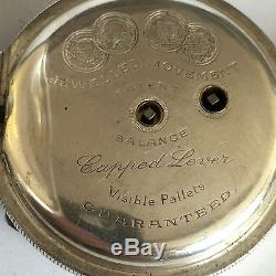Antique Solid Silver H Samuel Manchester Acme Lever Pocket Watch