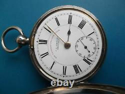 Antique Solid Silver J G Graves Express English Lever Pocket Watch For Repair