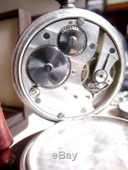 Antique Solid Silver Pocket Watch Rival/ Berry & Co Westminster Lever 1927 Mint