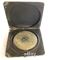 Antique Steel Cased Hebdomas Type 8 Day Pocket Watch Square Brevet Case