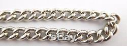 Antique Sterling Pocket Watch Chain with Sterling Silver 1906 Fob LAYBY AV