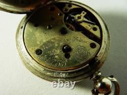 Antique Sterling Silver Courvoisier Freres Pocket Fob Watch Switzerland 935