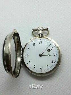 Antique Sterling Silver VERGE FUSEE Pocket Watch Cleaned, Oiled, and Working