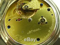 Antique Straub & Hebting, 19j Fusee key wind pocket watch, wind indicator. Mint