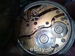 Antique Swiss 8 day Goliath Pocket Watch Rare