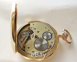 Antique Swiss Heavy Solid Gold 14K Full Hunter case pocket watch
